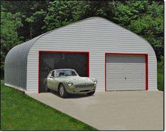 Two Car Garage Steel Building