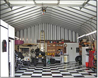 Metal building kits by longlife steel buildings for Metal building interior ideas