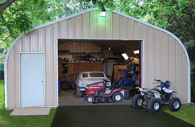 Garage buildings by longlife steel buildings for Steel building garage with apartment