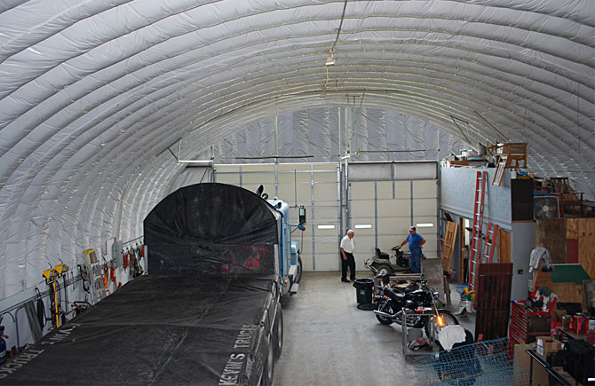 Garage buildings for trucks equipment storage and more for Labor cost to build a garage