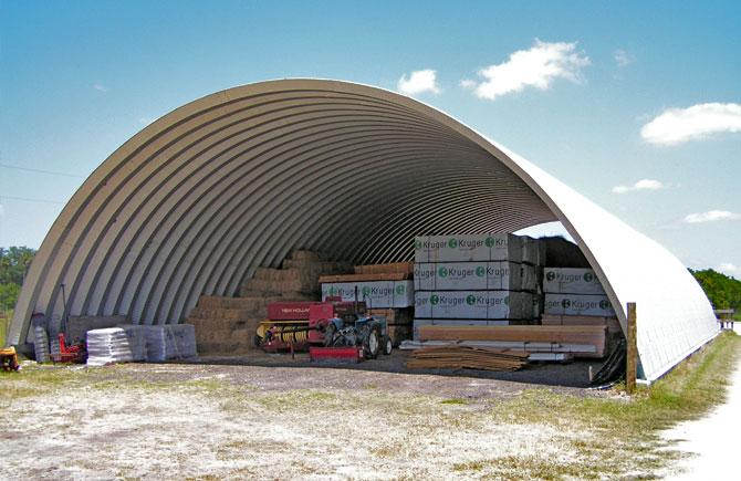 Metal Dome Garage : Industrial metal buildings by longlife steel
